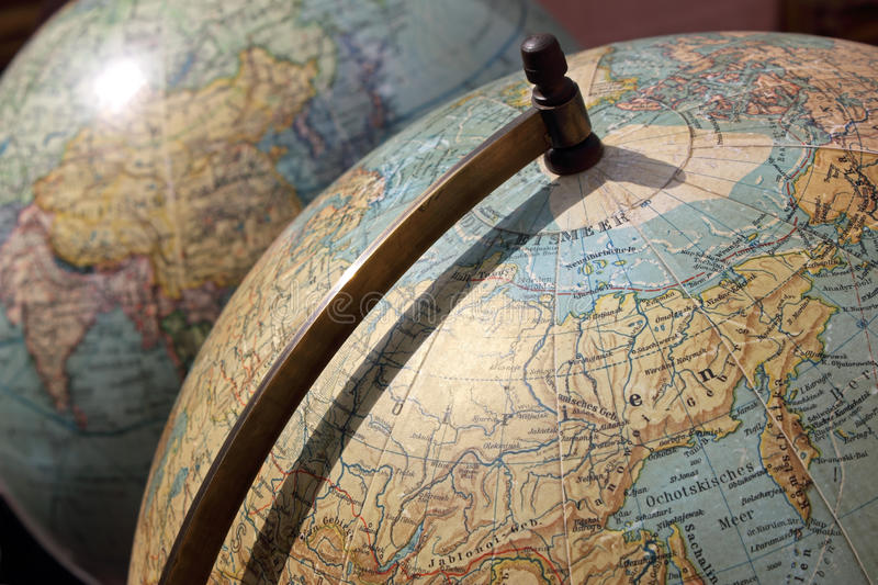 Vintage Globes royalty free stock images