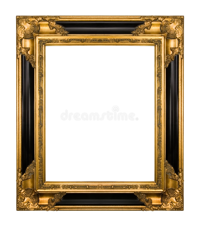 Free Vintage Gold And Piano Black Ornate Frame Royalty Free Stock Image - 4693406
