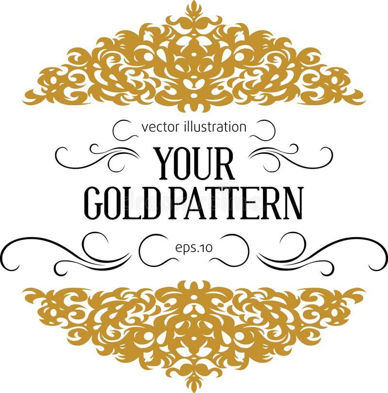 Vintage gold border vector illustration
