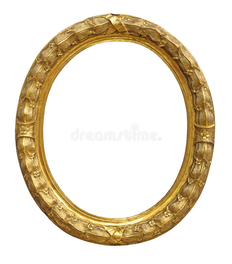 Vintage gold color picture frame royalty free stock photography