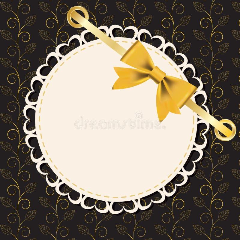 Download Vintage Gold Frame On Floral  Background. Stock Photography - Image: 23578492