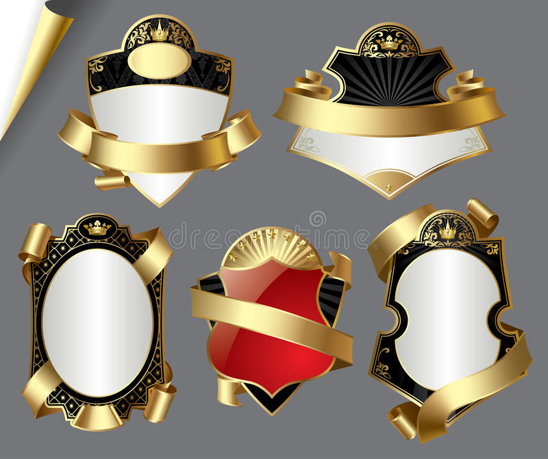 Download Vintage gold labels stock vector. Image of packing, decorative - 16438196