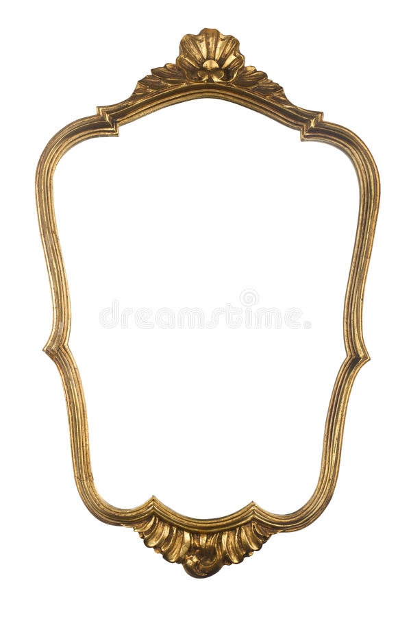 Vintage gold mirror frame stock photo. Image of collection - 67105644
