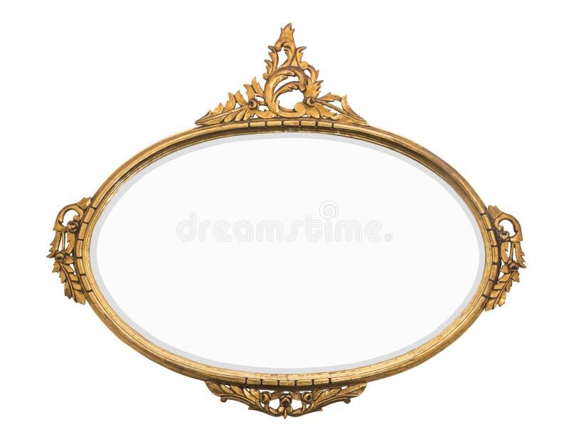 Vintage gold mirror royalty free stock photos