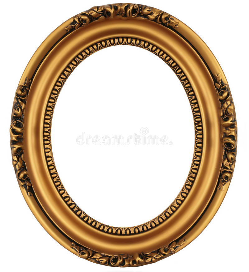 Vintage gold picture frame stock photography