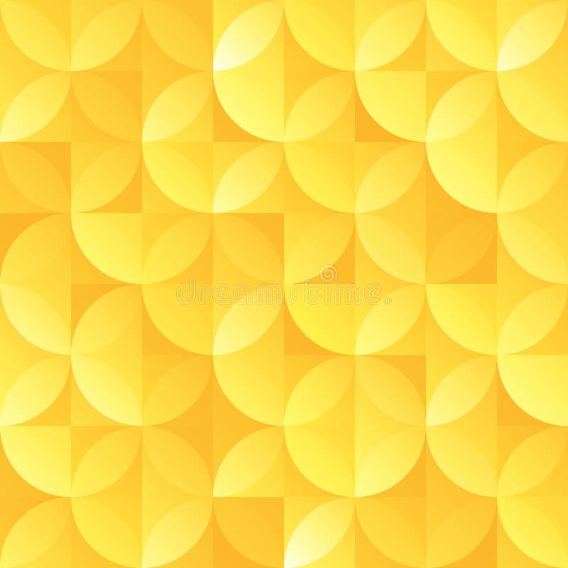 Vintage gold retro seamless sircle shape vector pattern stock illustration