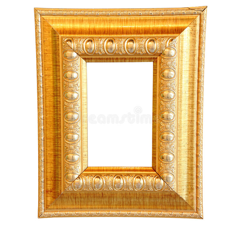 Download Vintage gold wood frame stock image. Image of bordering - 29982041