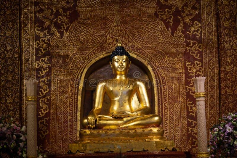 Vintage Golden buddha state Phra Singh at Wat Phra Singh ,Chiangmai ,Thailand stock photos