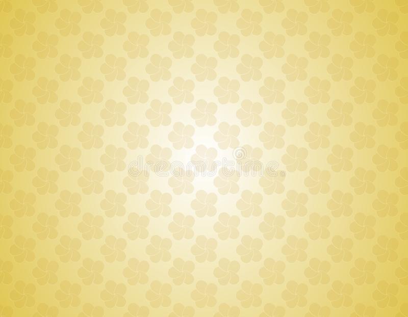 Vintage golden color backdrop white and yellow gradient Vector plumeria flowers vector illustration