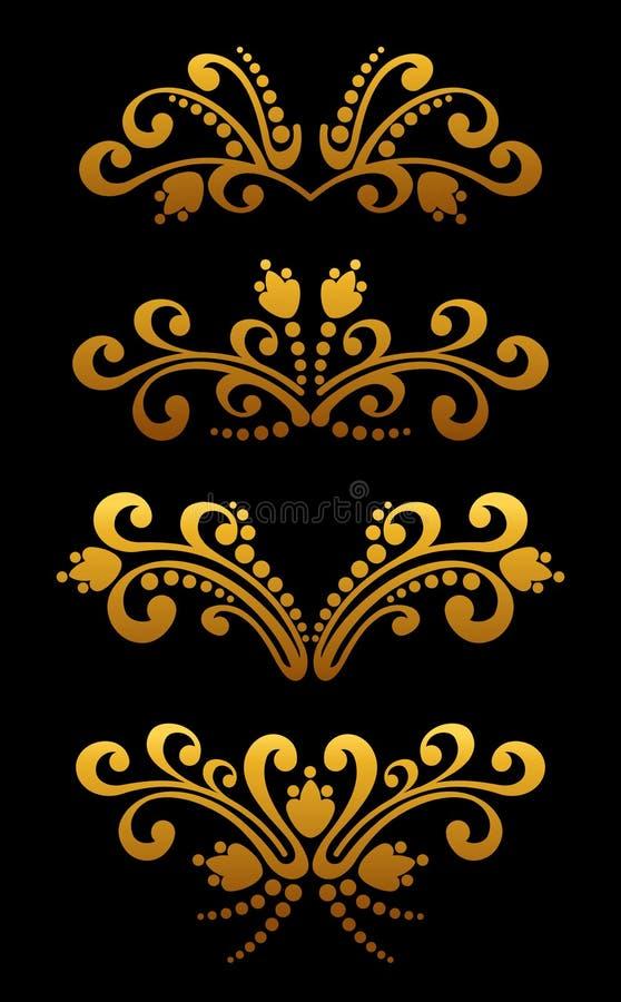 Download Vintage golden flowers stock vector. Illustration of frame - 23332261