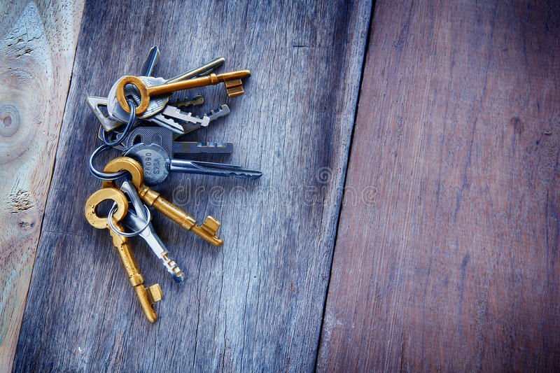 Vintage golden keys stock photography