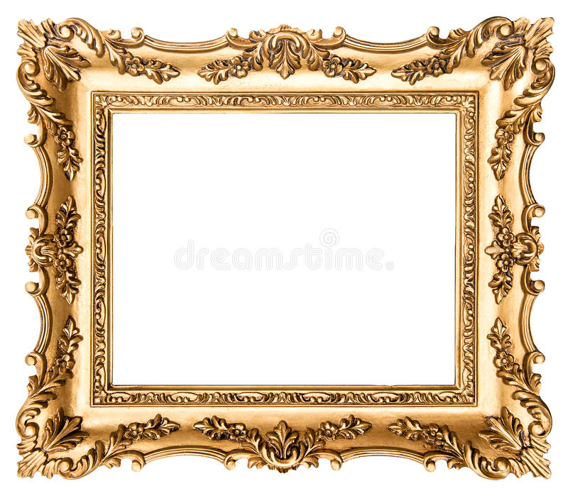 Download Vintage Golden Picture Frame. Antique Style Object Stock Photo - Image of picture, painting: 50661722