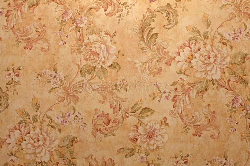 Vintage wallpaper with floral pattern royalty free stock photo