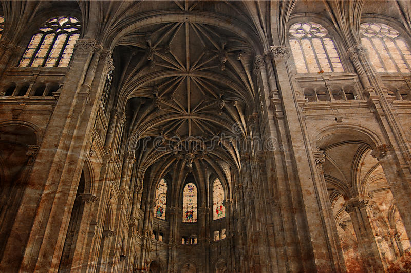 Download Vintage Gothic Cathedral Of Paris - Retro Style Stock Photo - Image of chapelle, ages: 10990016