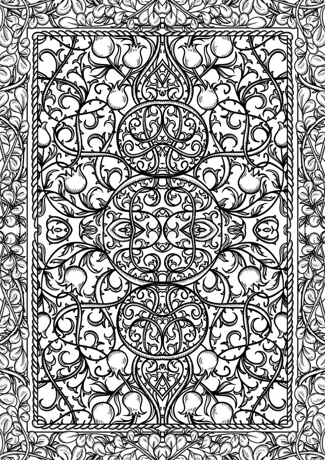 Book Cover Black And White Design ~ Vintage gothic pattern with floral elements black and