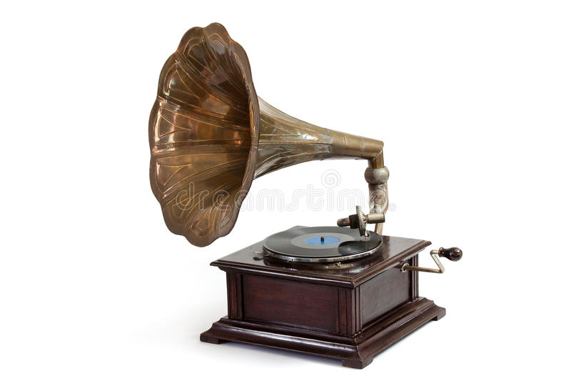 Vintage Gramophome Player stock image