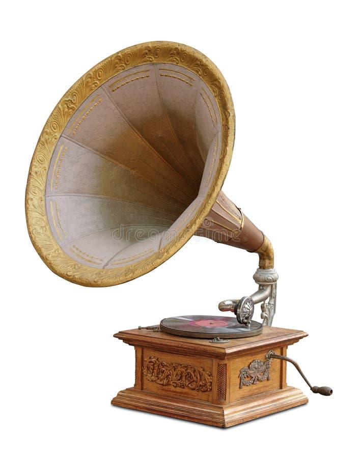 Vintage gramophone stock photography