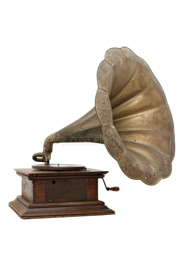 Vintage gramophone royalty free stock images