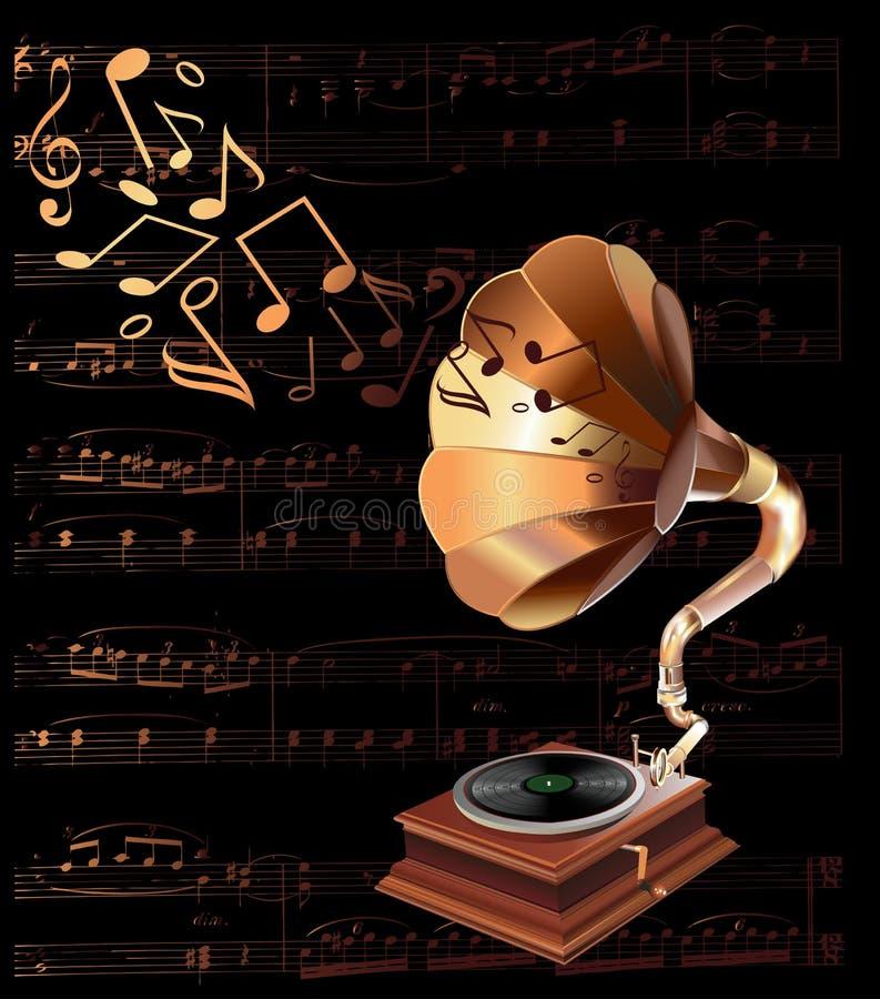 Vintage gramophone royalty free illustration