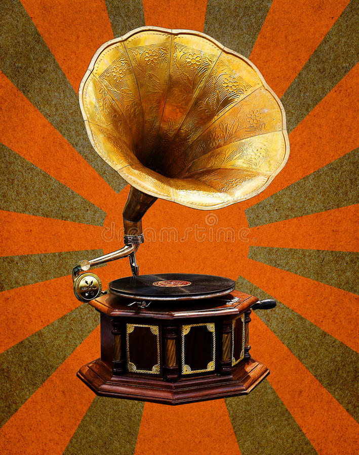 Download Vintage Gramophone  Abstract Sun Rays Stock Illustration - Image: 23821223