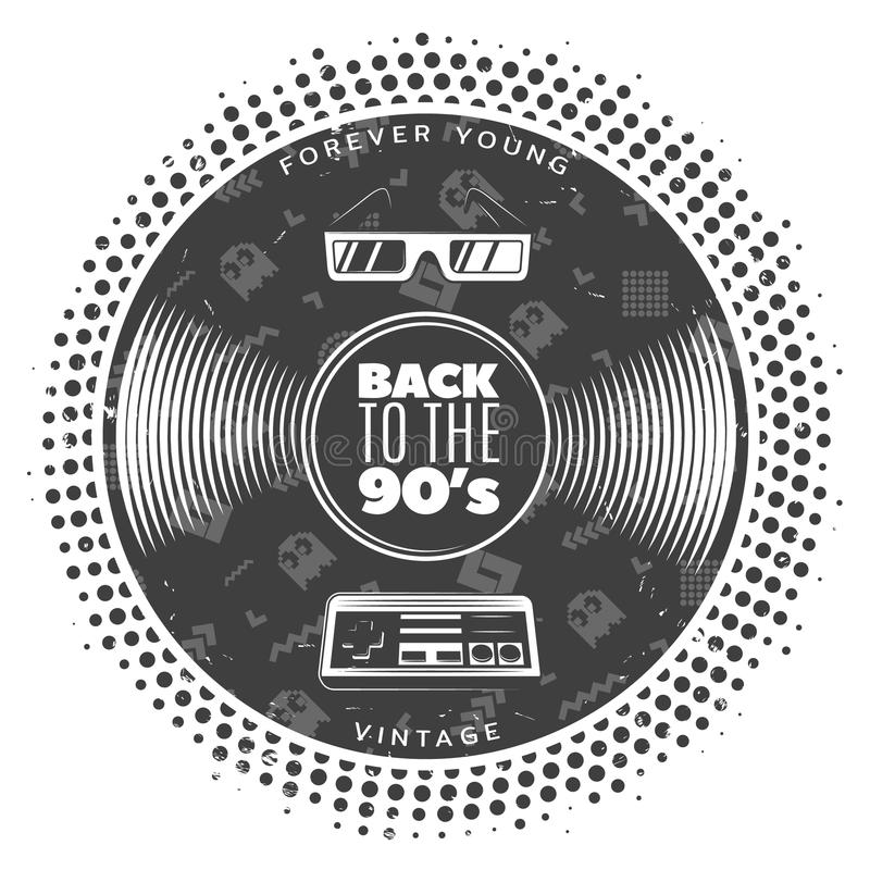 Vintage Gramophone Vinyl Record Template vector illustration