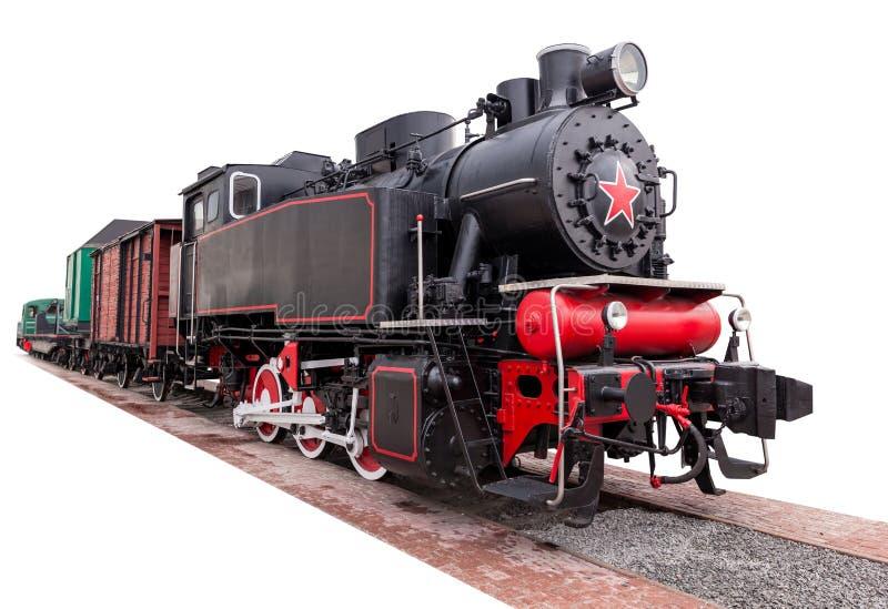 Vintage, grand, train de vapeur photo libre de droits