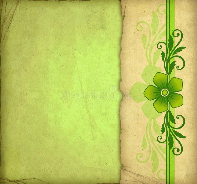 Vintage green background stock illustration