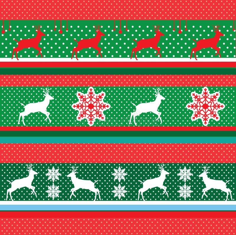 Vintage Green Border CHRISTMAS. Green Border Vintage CHRISTMAS 2018. Vector - Reindeer Border. Decorative ornament. Winter, Marry Christmas, New Year. Decorative vector illustration