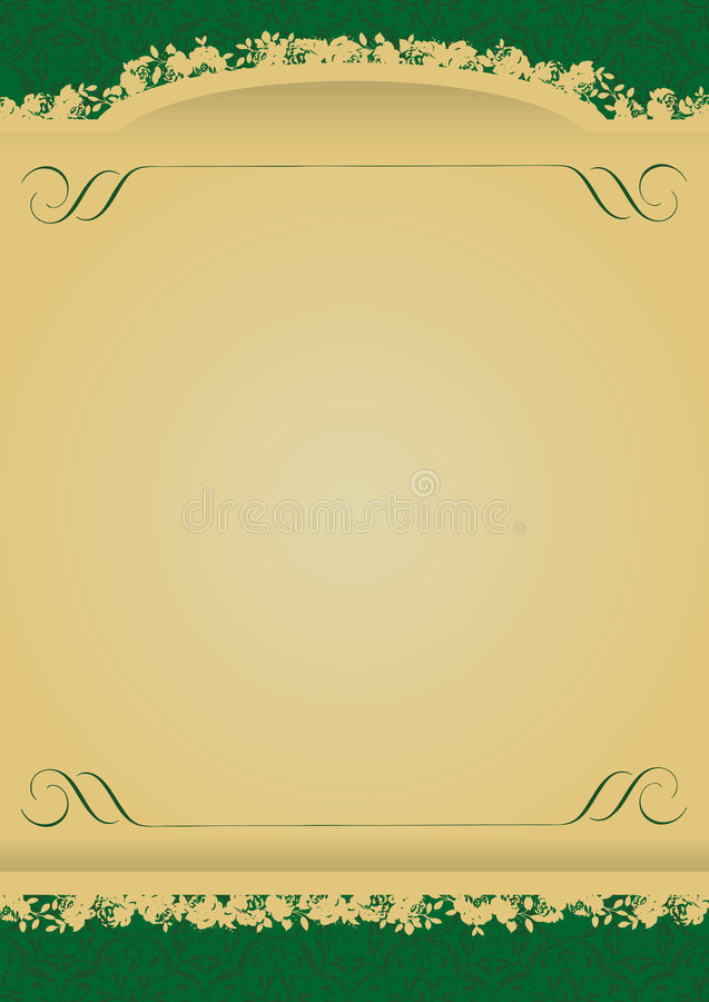 Download Vintage Green And Gold Decorative Banner Vector Stock Vector - Image: 5534161