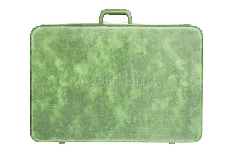 Download Vintage green suitcase stock photo. Image of fabric, classic - 28854524