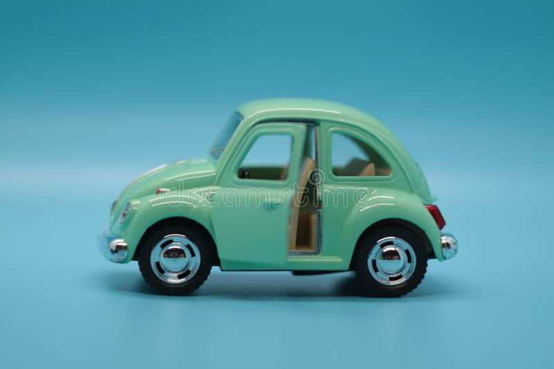 Green Toy Car - Volkswagen Beetle royalty free stock photos