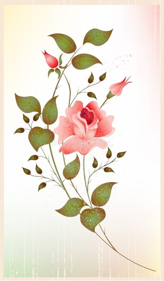 Vintage greeting card. Vector illustration EPS 10