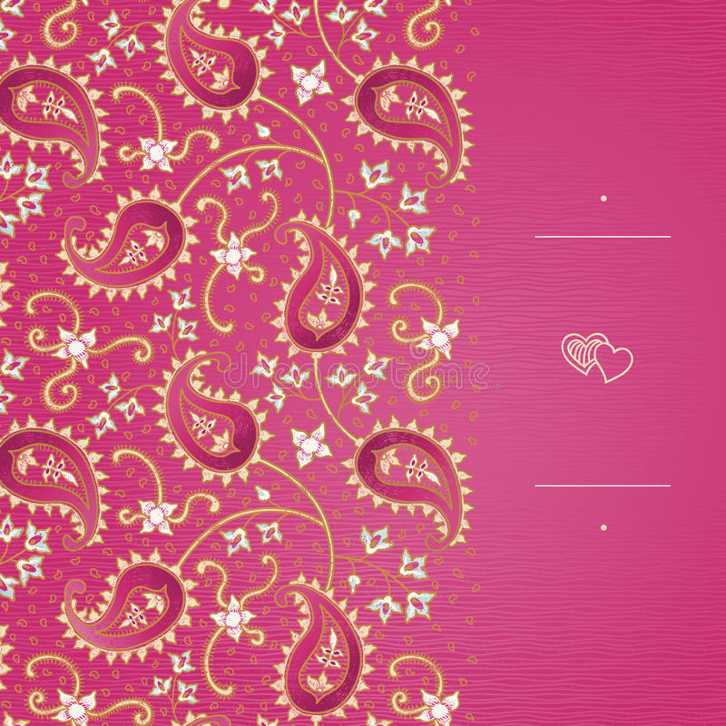 Vintage greeting cards with swirls and floral motifs in east style. vector illustration