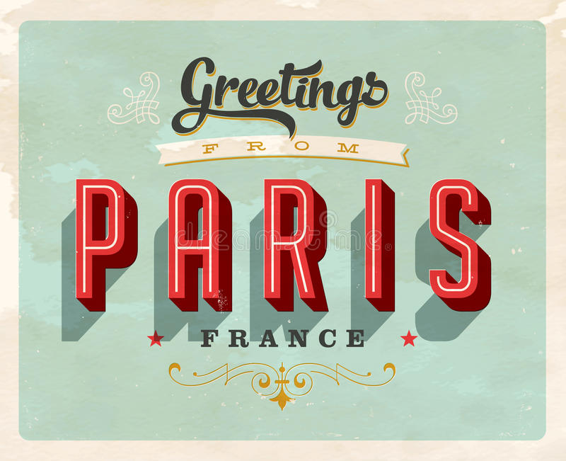 Vintage greetings from paris france vacation card stock vector download vintage greetings from paris france vacation card stock vector illustration of paris m4hsunfo