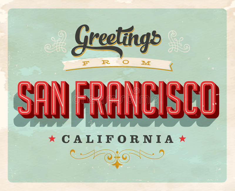 Vintage greetings from san francisco california vacation card stock download vintage greetings from san francisco california vacation card stock vector illustration of fifties m4hsunfo