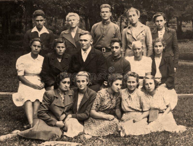 Vintage group portrait stock image