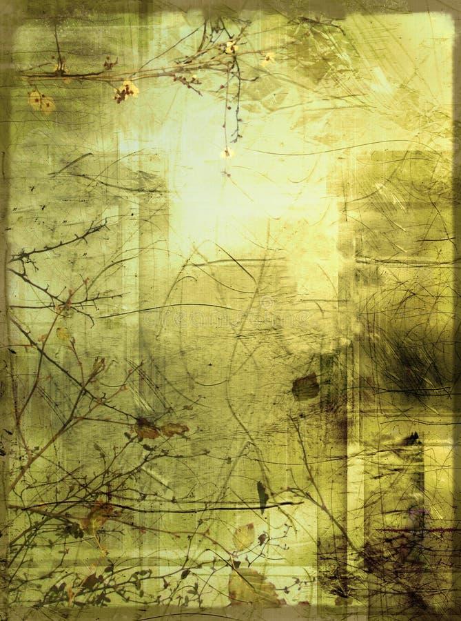 Vintage grunge background. Subtle & delicate bordered background in vintage style