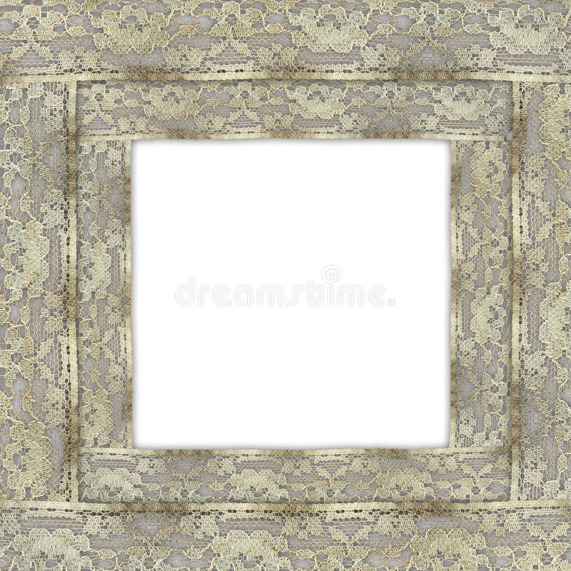 Vintage, grunge background with lace border stock images