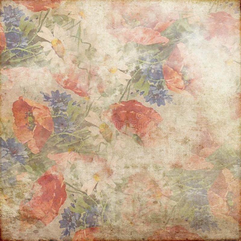 Vintage Grunge Background Red Blue Green Pink White 142 royalty free stock photo