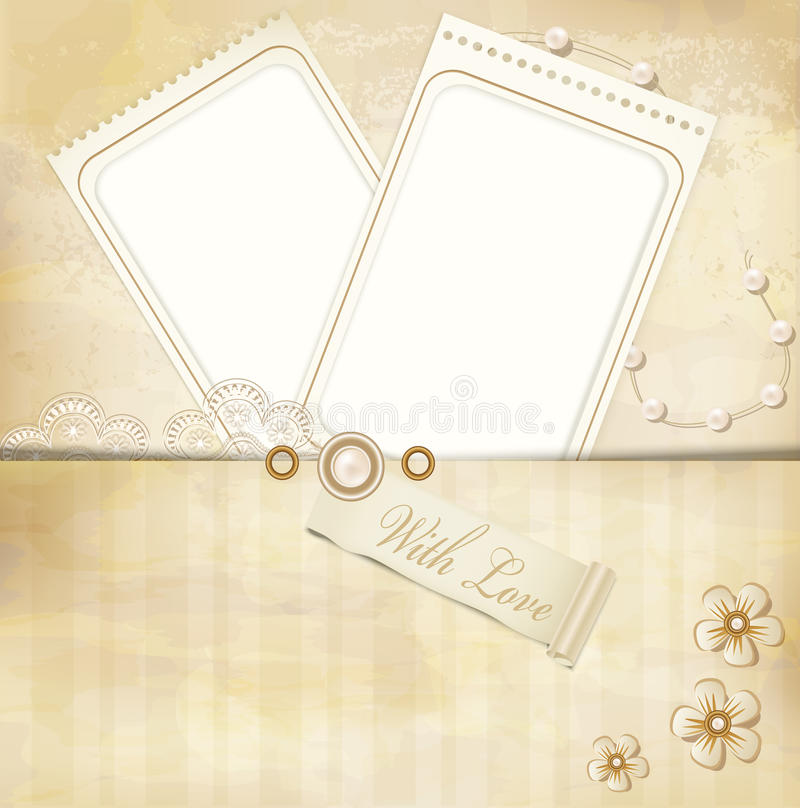 Download Vintage, Grunge Background With Two Photo Frames Stock Vector - Image: 19957067