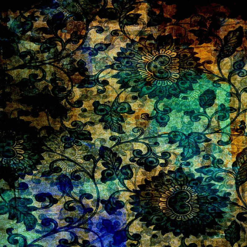 Vintage Grunge Batik Background royalty free stock photo