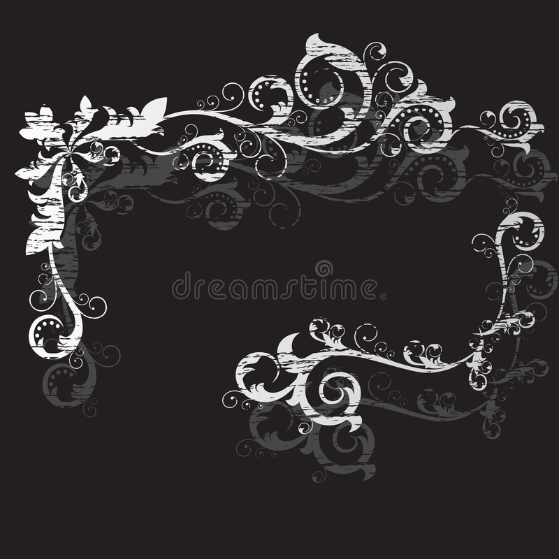 Download Vintage grunge black frame stock vector. Image of border - 5582238