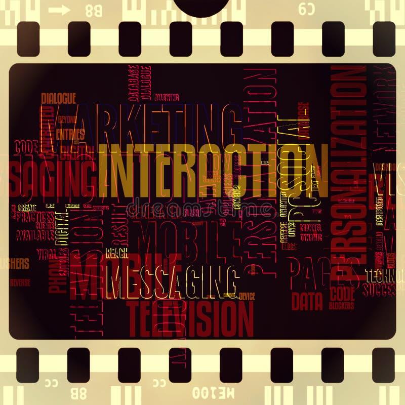 Vintage grunge d'extrait de film d'interaction de TV rétro illustration libre de droits