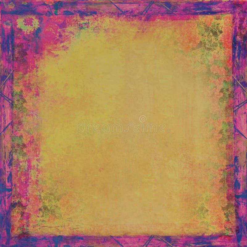 Vintage Grunge Frame For Congratulation Stock Images