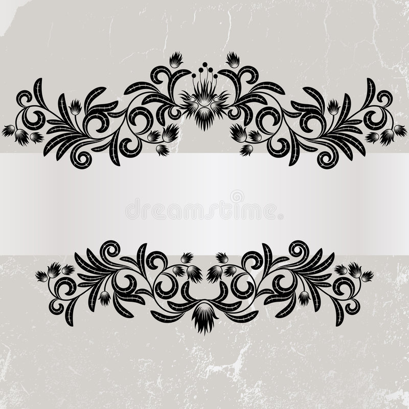 Vintage Grunge Grey  Frame Royalty Free Stock Photos