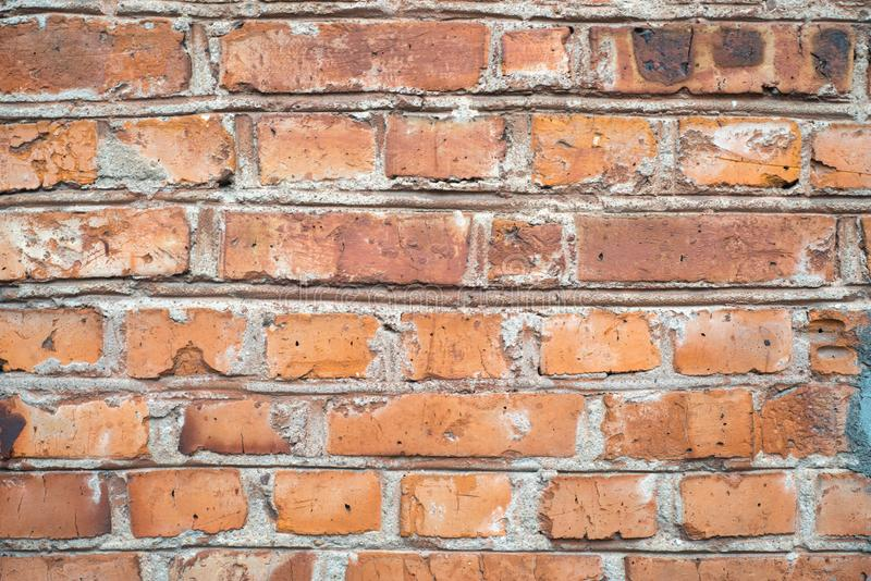 Vintage grunge and old red brown brick wall texture background stock photos