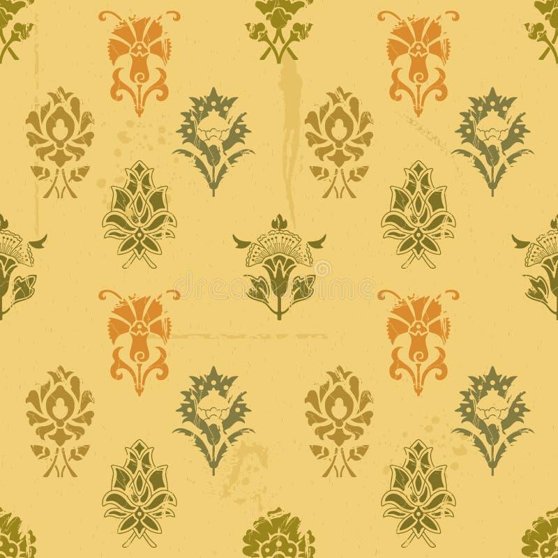 Vintage grunge seamless background pattern stock illustration