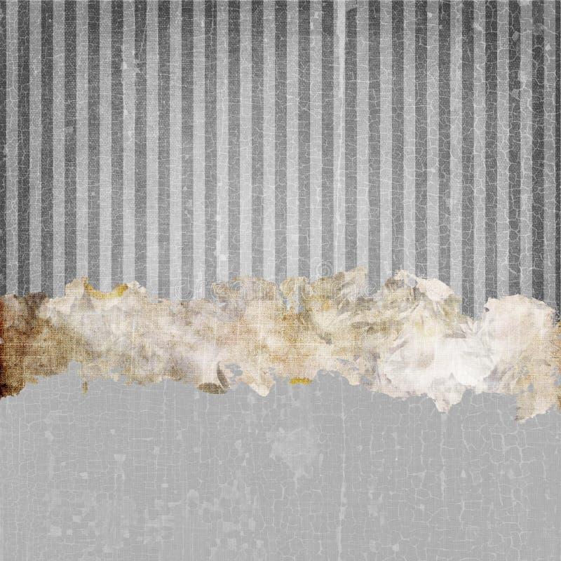 Vintage Grunge Stripes Background Dark Grey stock photography