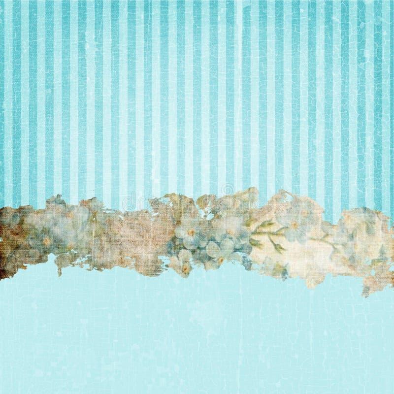 Vintage Grunge Stripes Background Blue stock images