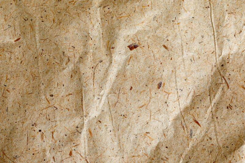 Vintage grunge textures of paper, cardboard, recyclables with various blades of grass, small inclusions of cellulose and other. Impurities. Natural background royalty free stock photos